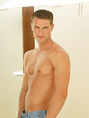 Handsome boy Jason Paradis showing his beefy body