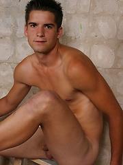 Hot brunett jock stripping naked