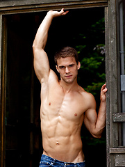 Cute muscle stud naked