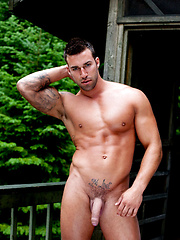 Muscle man outdoors
