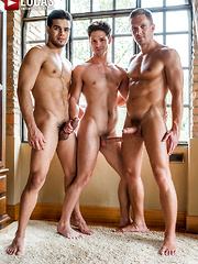 DEVIN FRANCO TAKES DOUBLE THE COCK FROM ANDREY VIC AND RICO MARLON