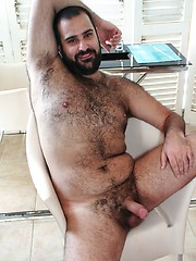 Italian bear Urs Milano shows off his sexy hairy chest and furry hole in this red hot Spanish photo shoot