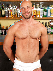 Sweet bearded Tim has been hanging around the bar, because the cute, charming bartender has been ...