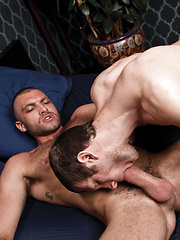 Vito Gallo Shoots His Big Load into Spencer Fox's Hungry Mouth